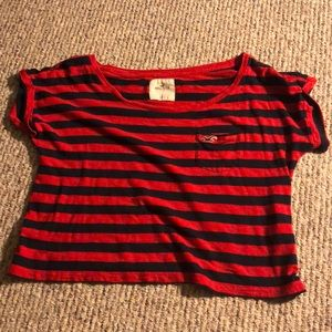 Hollister Striped Crop Top